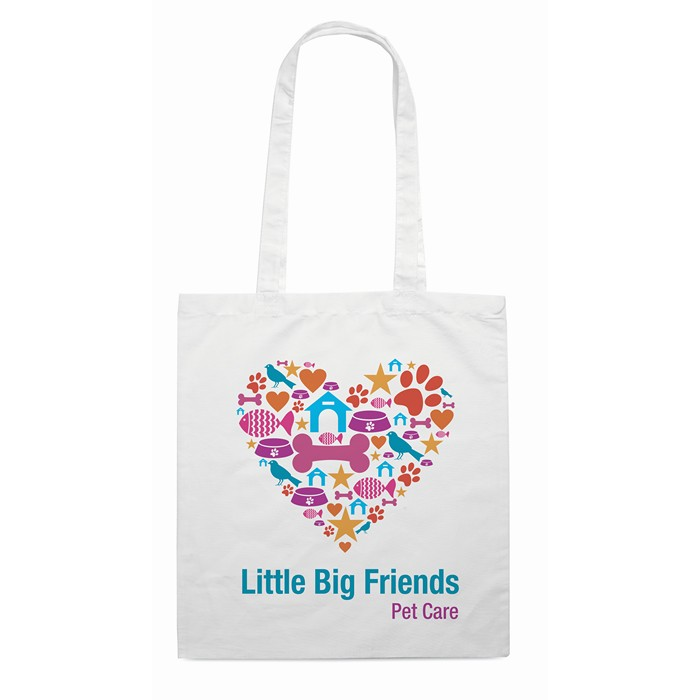 Printed Personalised shopping bags Shopping bag w/ long handles