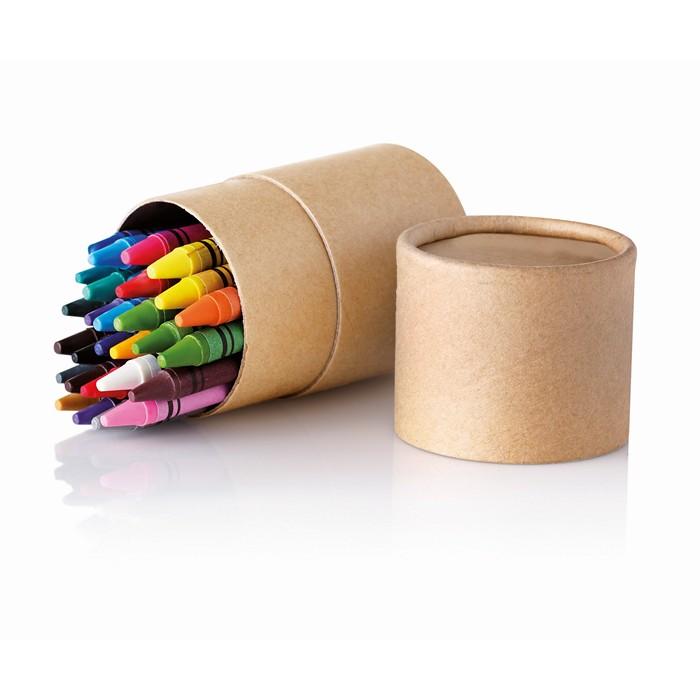 Printed 30 wax crayons