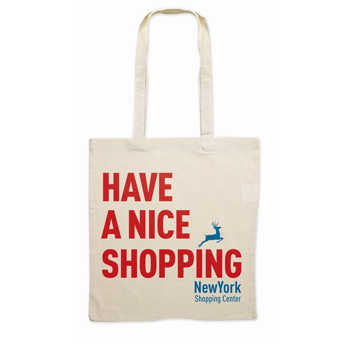 Printed Shopping Bag With Long Handles