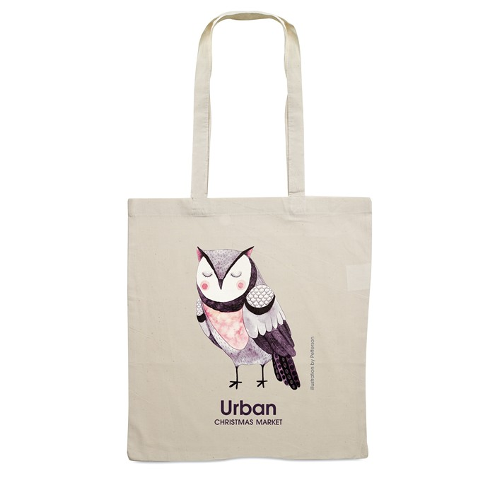Personalised Shopping Bag With Long Handles