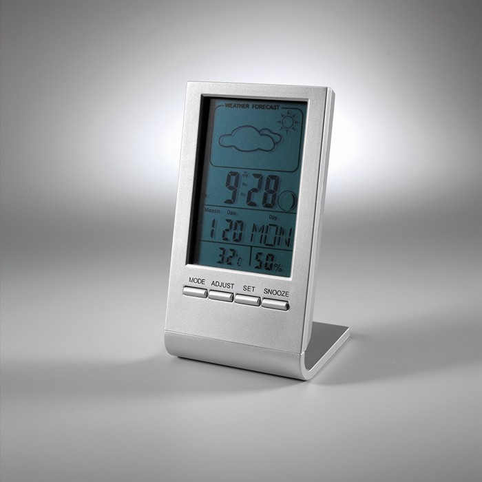 Promotional Weather station with blue LCD