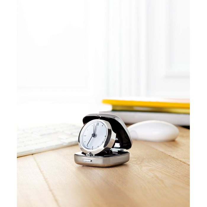 Promotional Metal travel alarm clock
