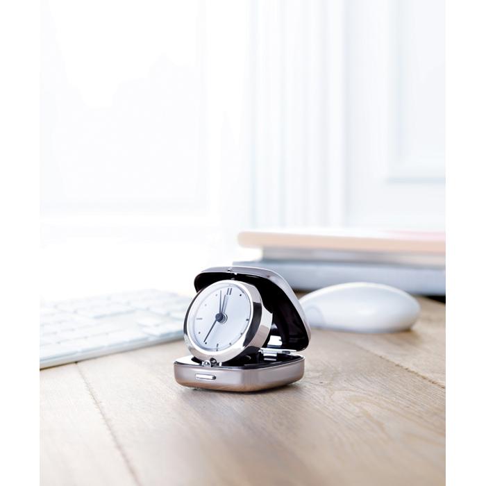 Branded Metal travel alarm clock