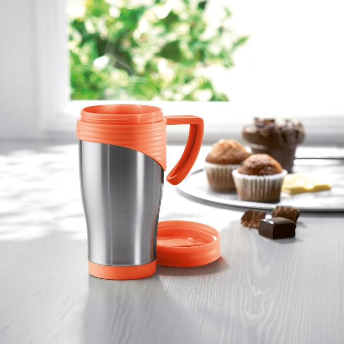 Branded Stainless Steel Travel Mug
