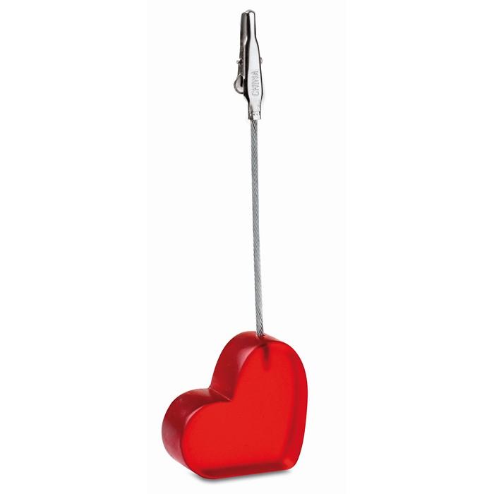 Branded Heart shape clip