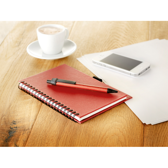 Branded Recycled Paper Block With Pen