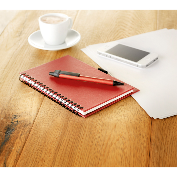Printed Recycled Paper Block With Pen
