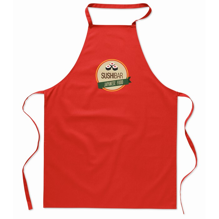 Printed Corporate aprons Kitchen apron in cotton