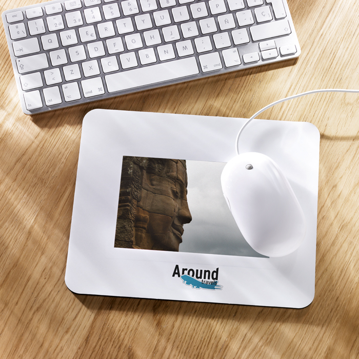 Branded Mouse Pad With Picture Insert