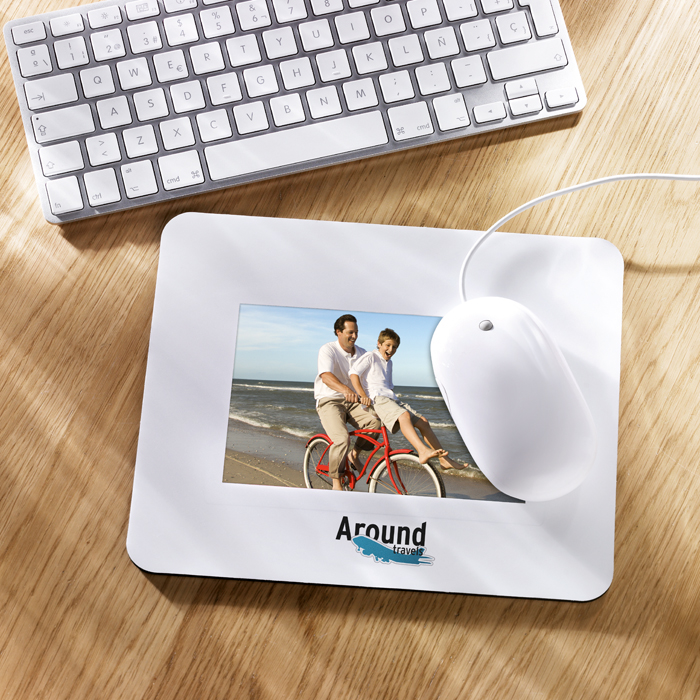 Printed Mouse Pad With Picture Insert