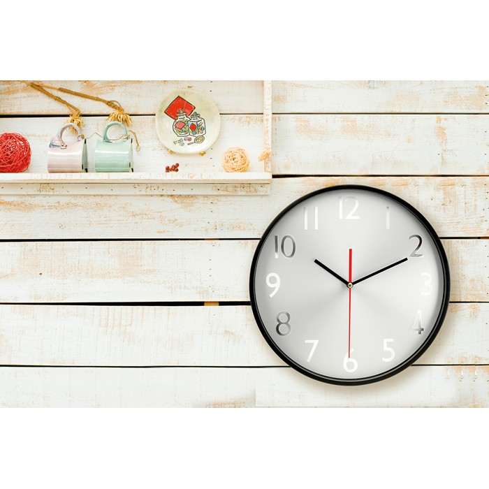 Personalised Wall clock w silver background