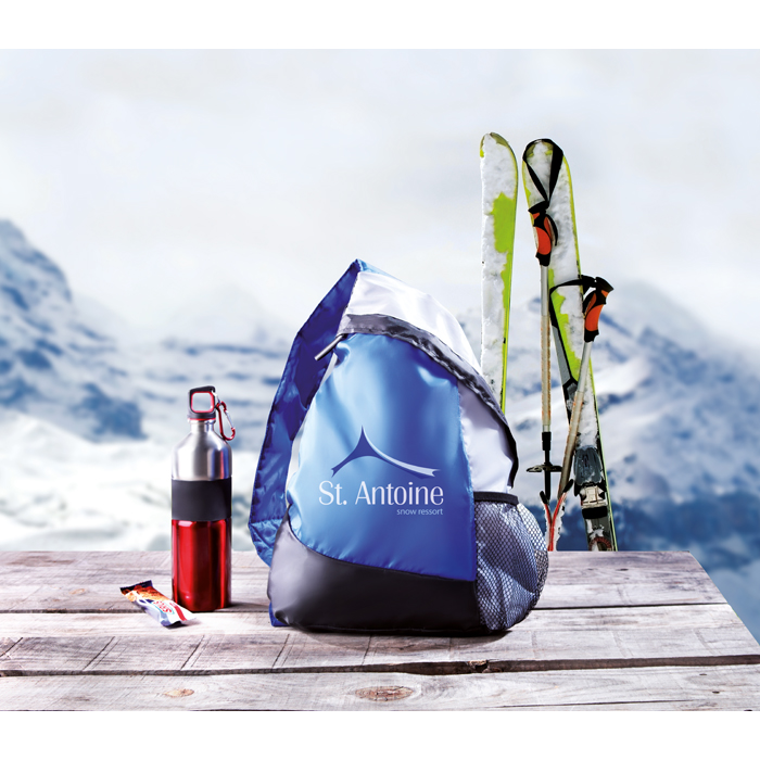 Branded Triangular Backpack