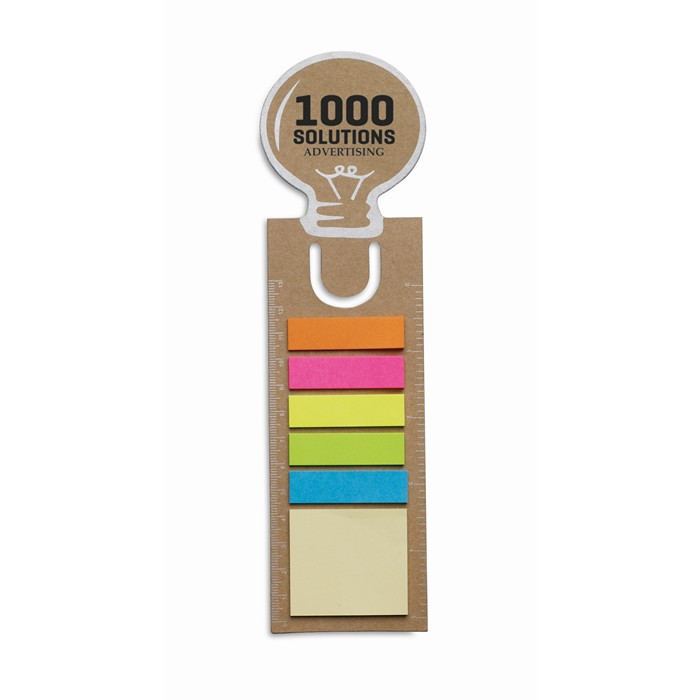 Promotional Bookmark with memo stickers