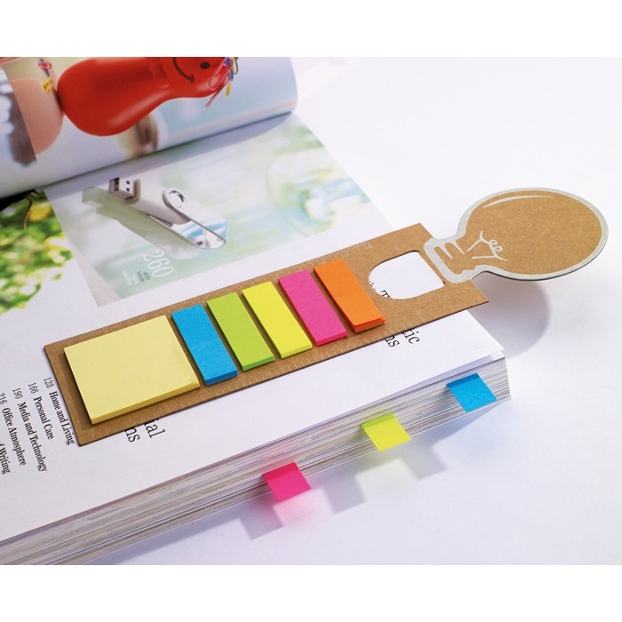 Printed Bookmark with memo stickers