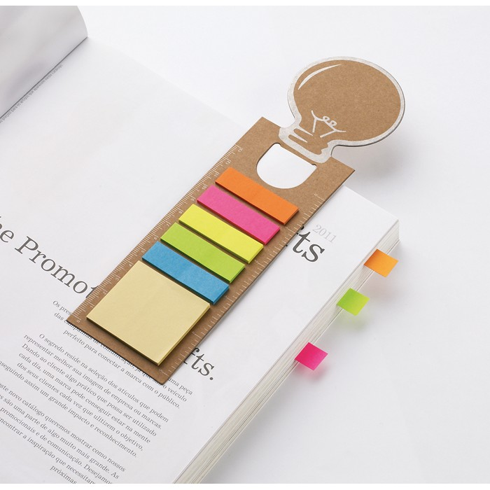 Personalised Bookmark with memo stickers
