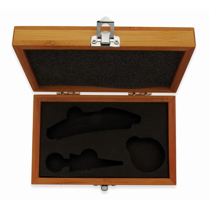Corporate Wine set in bamboo box