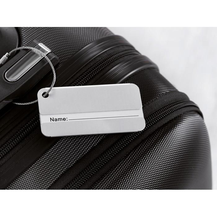 Promotional Aluminium luggage tag