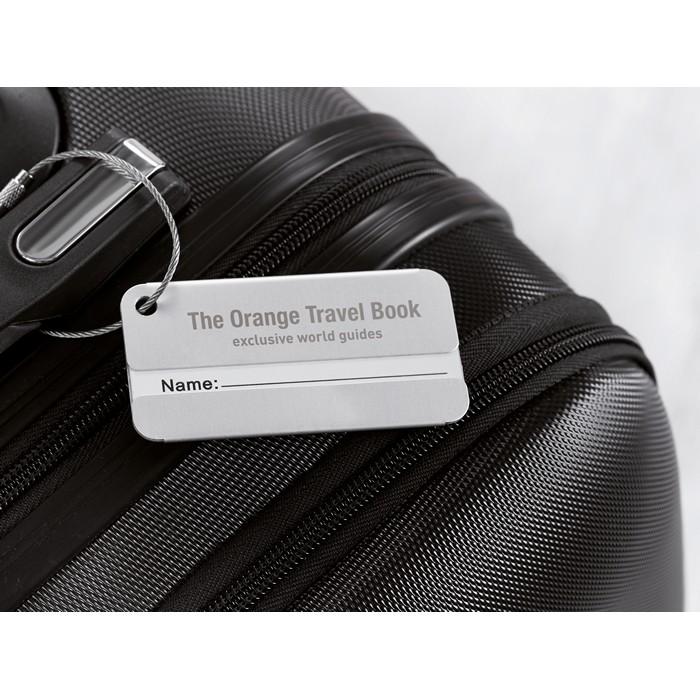 Branded Aluminium luggage tag