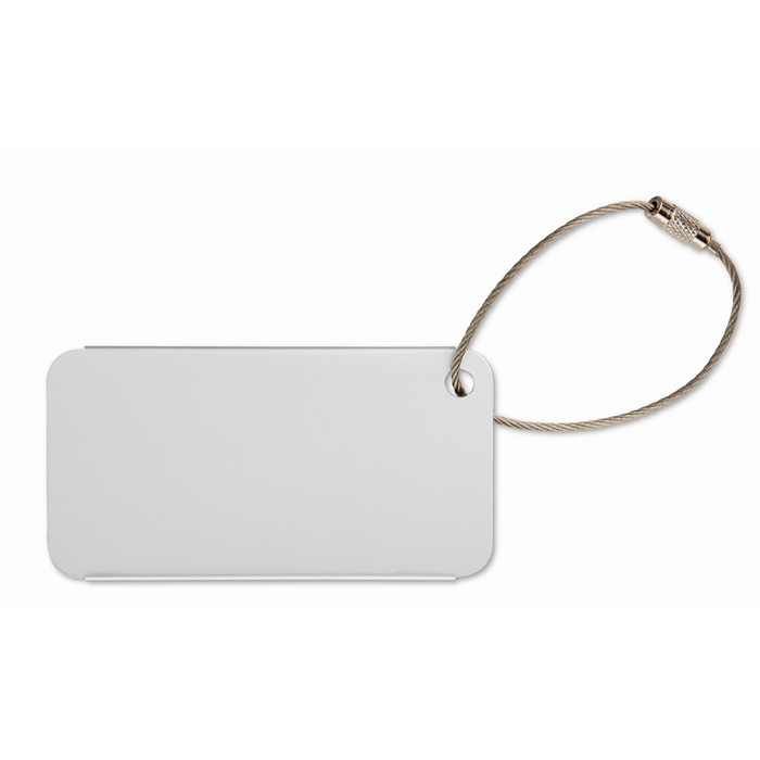 Printed Aluminium luggage tag