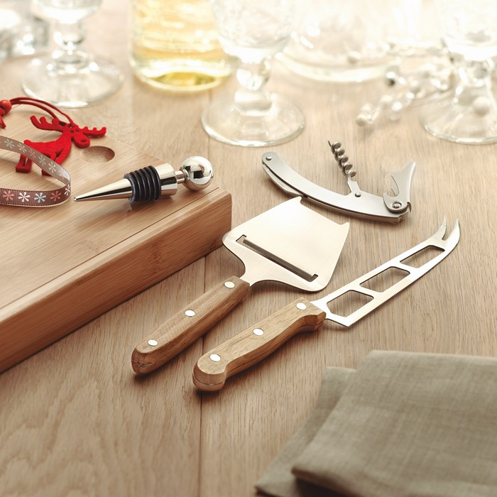 Promotional Cheese and wine set