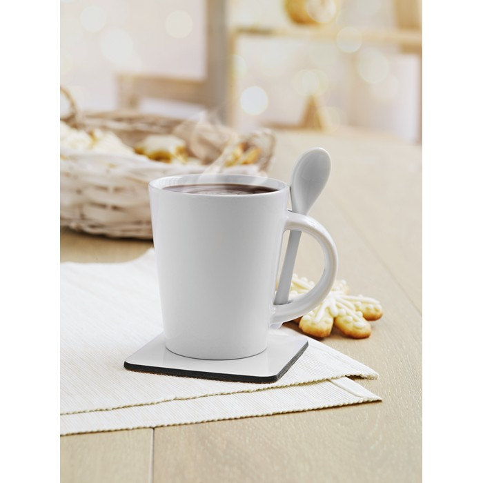 Personalised Sublimation mug with spoon