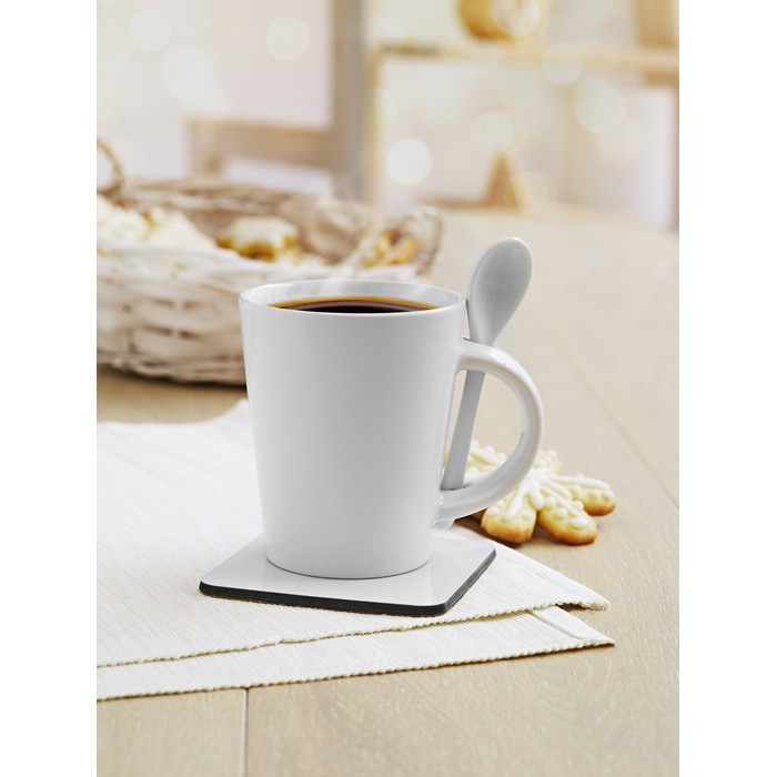 Corporate Sublimation mug with spoon