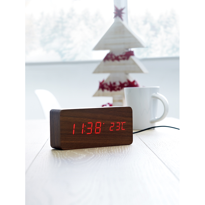 Promotional LED clock in MDF