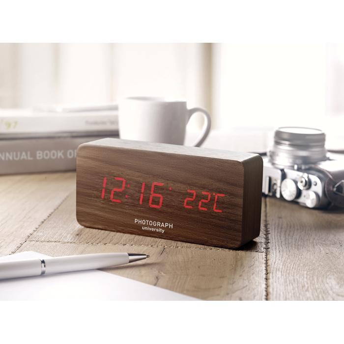 Branded Personalised clocks LED clock in MDF