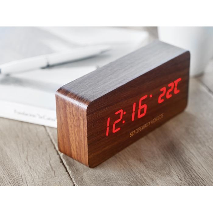 Branded Promotional clocks LED clock in MDF