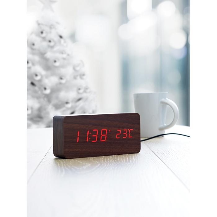Branded LED clock in MDF