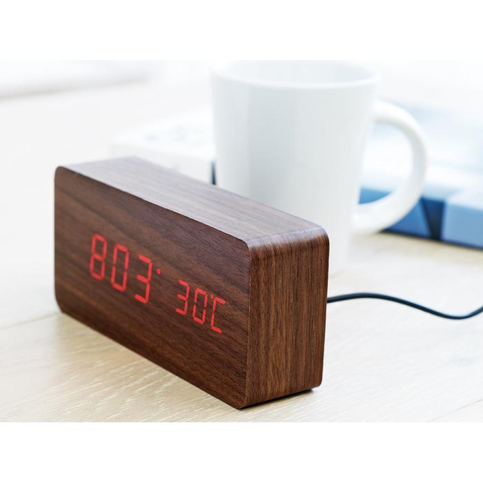 Corporate LED clock in MDF