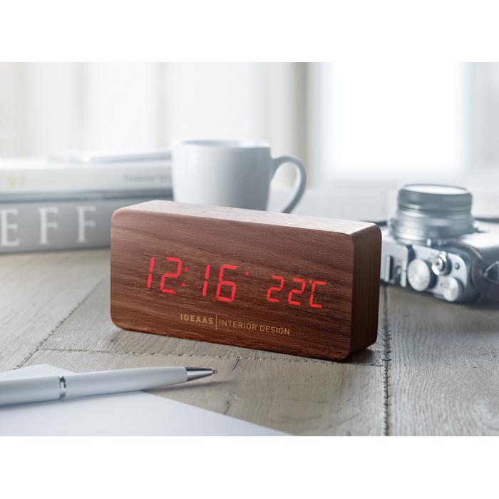 Engraved LED clock in MDF