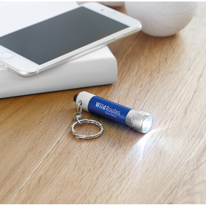 Promotional Aluminium torch with key ring