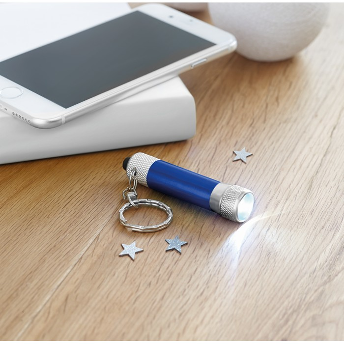 Branded Aluminium torch with key ring