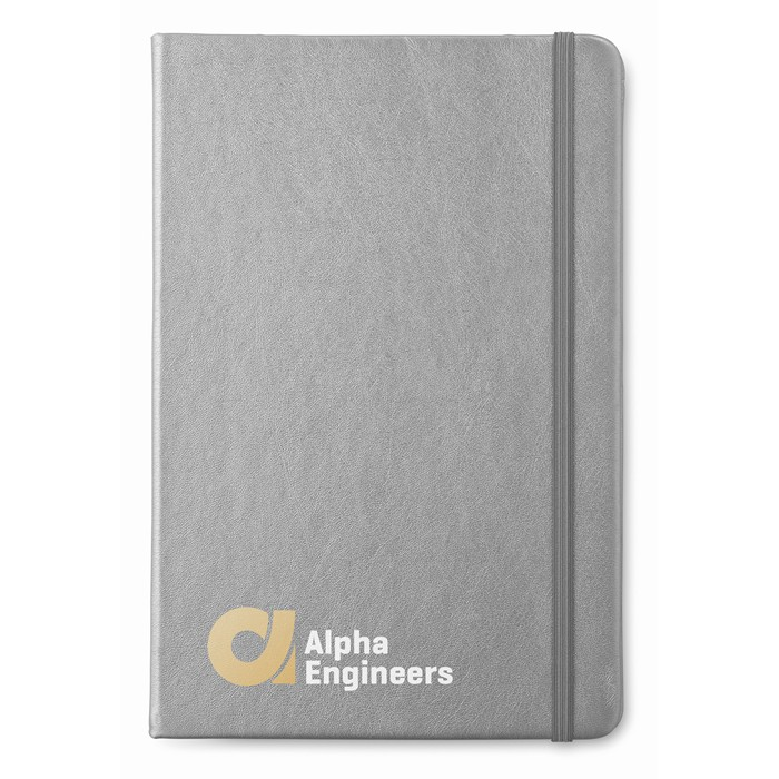 Branded A5 notebook lined paper