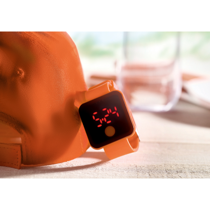 Branded Red Led Watch