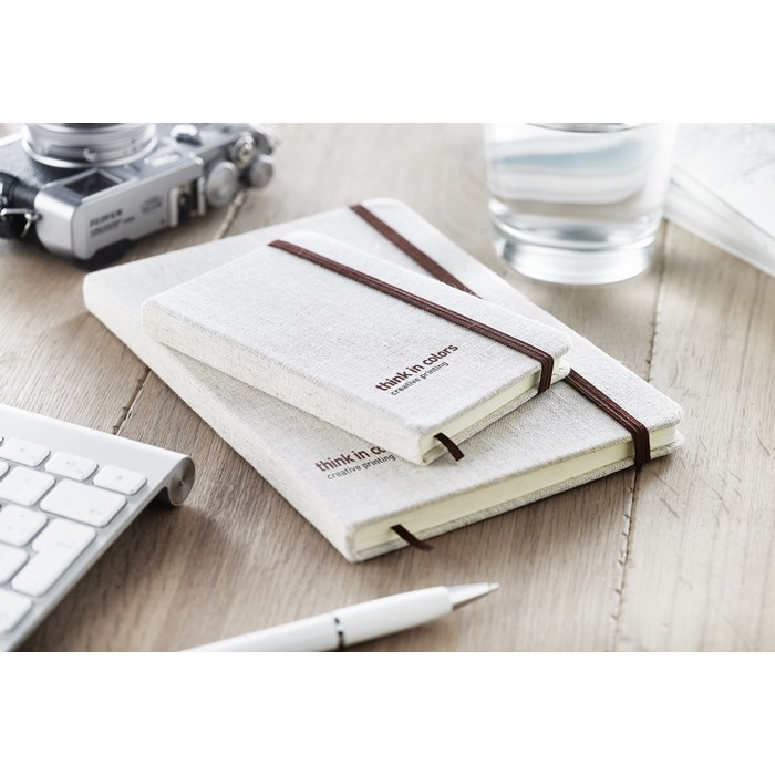 Promotional A5 notebook canvas covered
