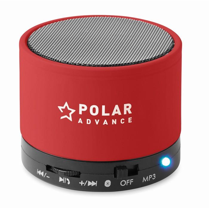 Printed Round Bluetooth speaker