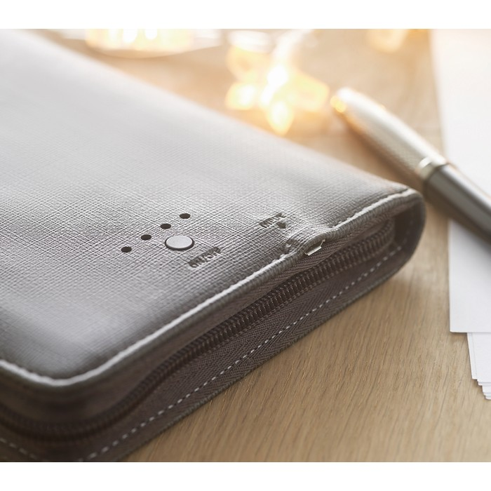 Branded PU organizer with power bank