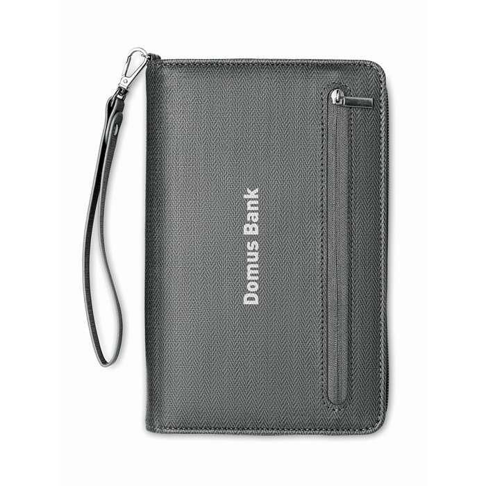 Personalised PU organizer with power bank