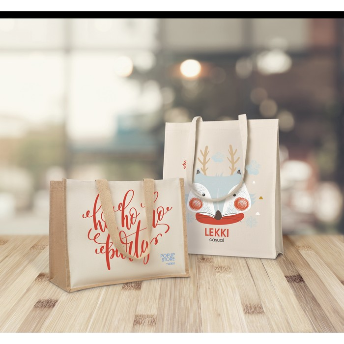 Custom Promotional pmm-jutebags Jute and canvas shopping bag