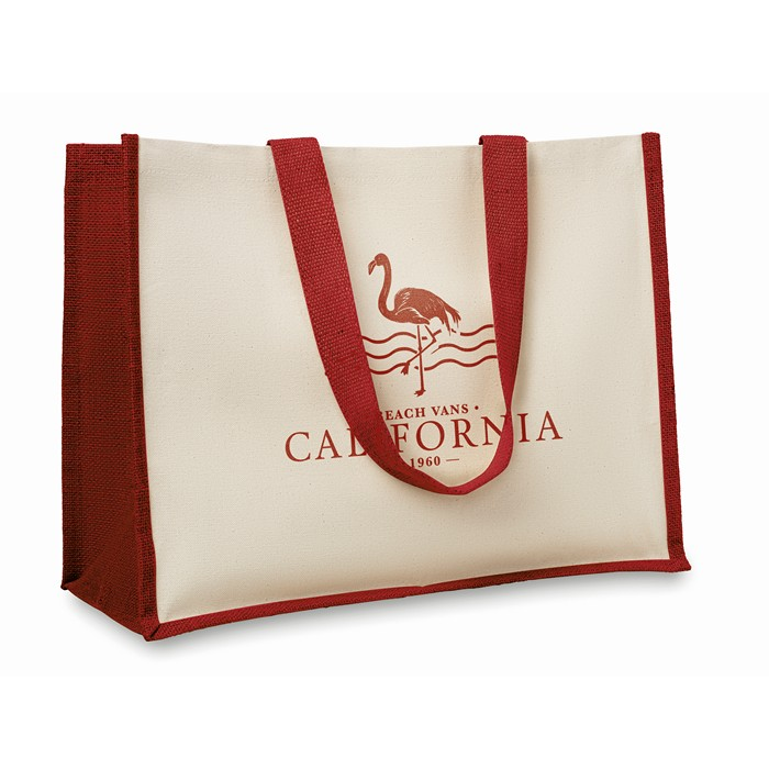 Branded Jute and canvas shopping bag