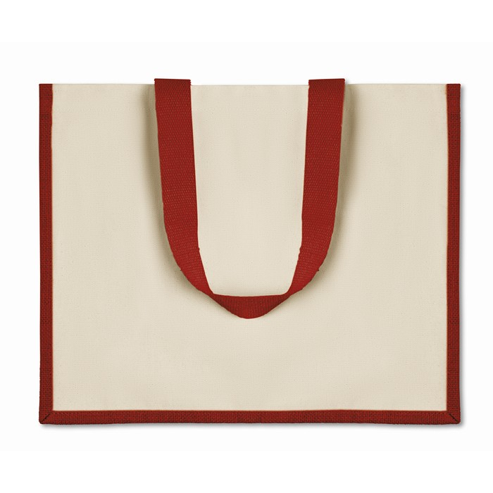 Personalised Jute and canvas shopping bag