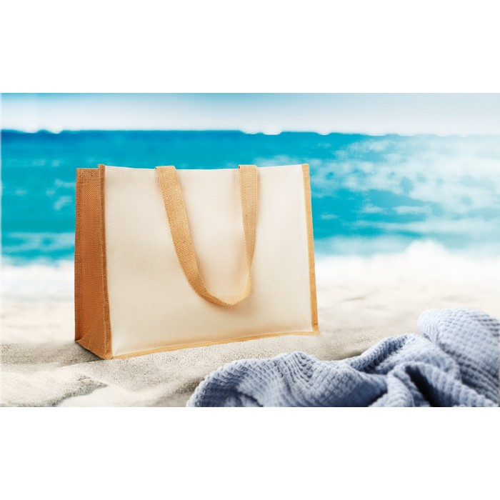 ImPrinted Jute and canvas shopping bag