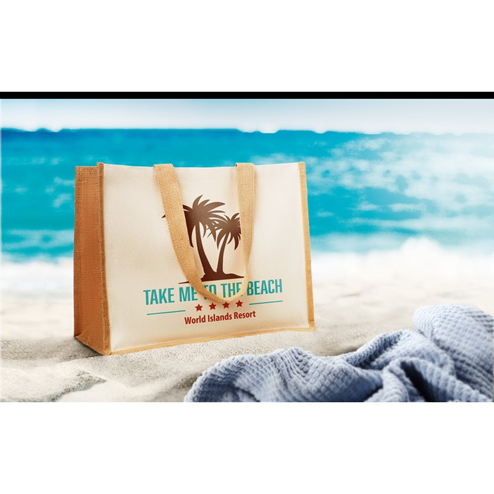 Promo Jute and canvas shopping bag