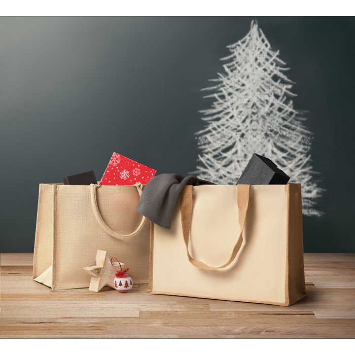 Business Jute and canvas shopping bag