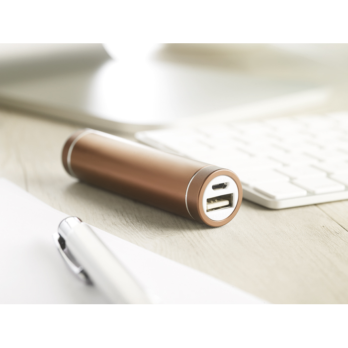 Branded Cylinder Shape Powerbank