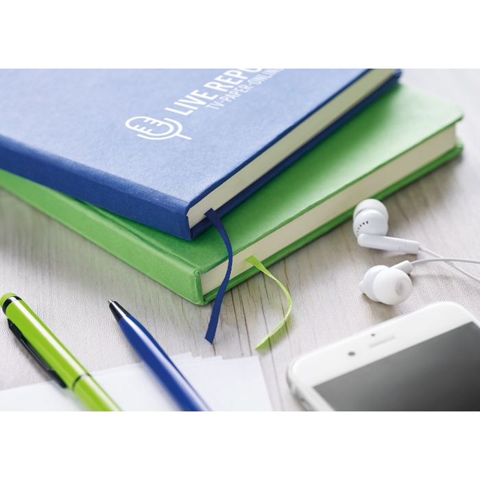 Personalised A5 Notebook With Paper Cover