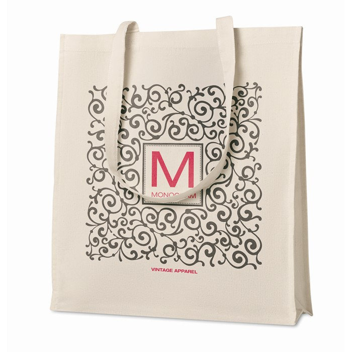 Personalised Shopping Bag With Gusset