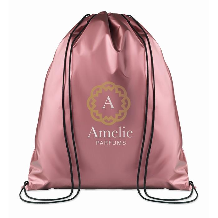 Branded Drawstring bag shiny coating
